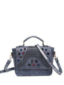 Buy Colored Rivet Cut Handbag GRAY