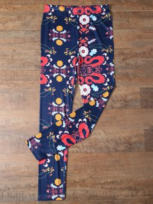 Slimming Tiny Floral Pattern Leggings
