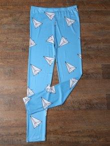 Paper Plane Print Leggings