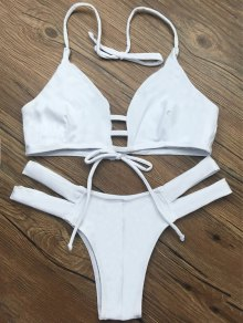 String Halter Unlined Bikini Swimwear