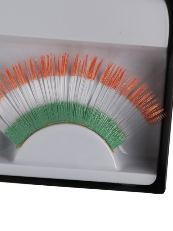 Irish Flag False Eyelashes -   Mobile