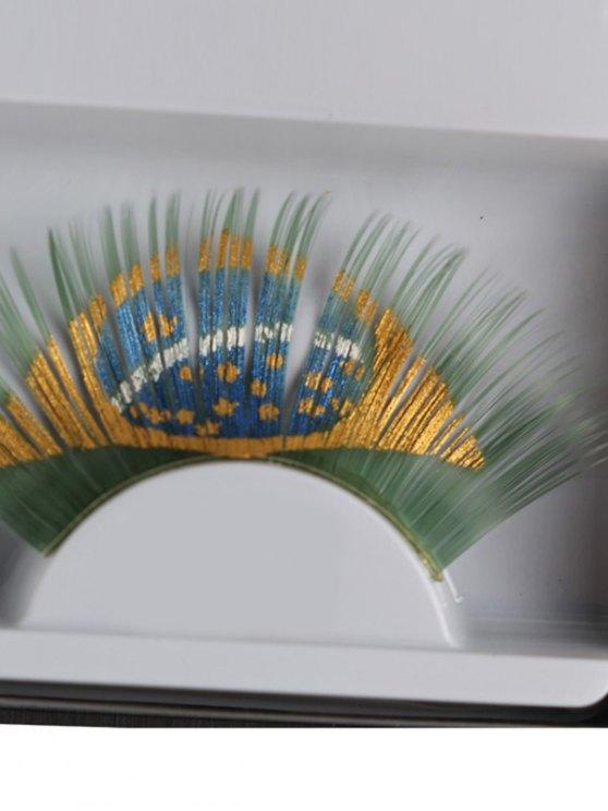 Brazil Flag False Eyelashes - GREEN  Mobile