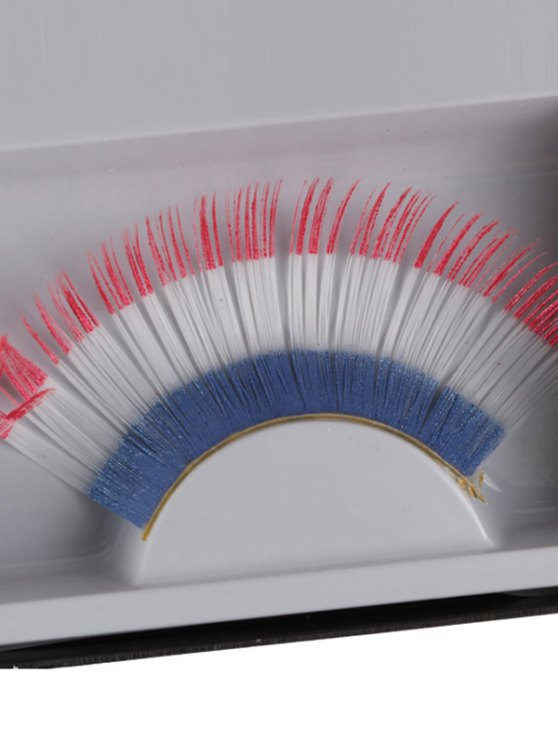 French Flag False Eyelashes - WHITE  Mobile