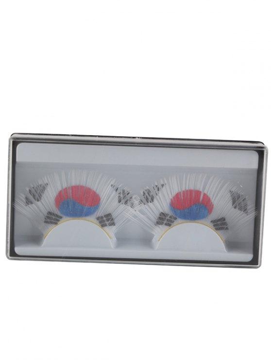 South Korean Flag False Eyelashes -   Mobile