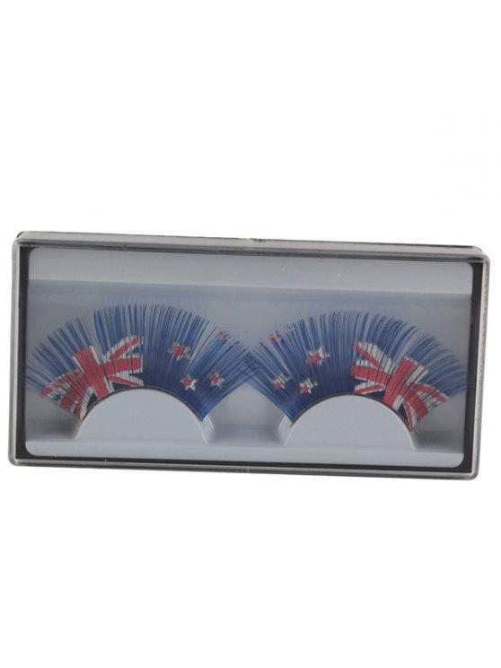 New Zealand Flag False Eyelashes - BLUE  Mobile