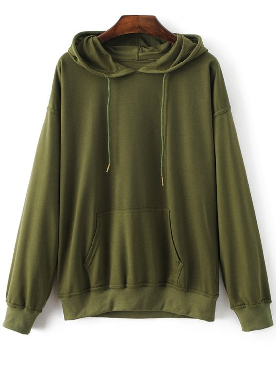 Casual Bat-Wing Sleeve Hoodie - ARMY GREEN XL Mobile