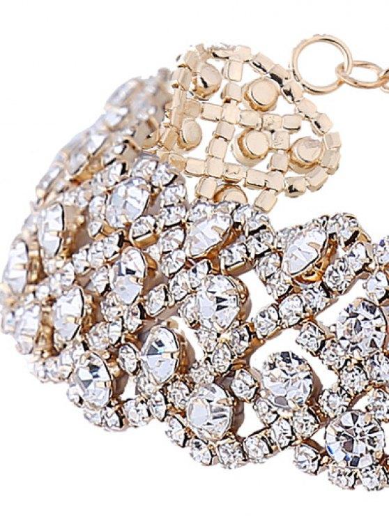 Wedding Rhinestone Choker Necklace - GOLDEN  Mobile