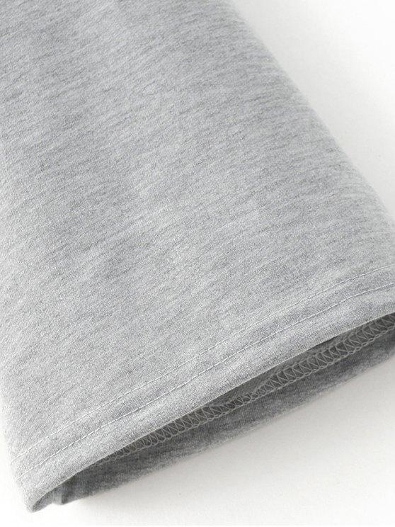 Casual Flare Sleeve Hoodie - BLACK XL Mobile