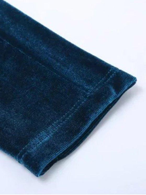 Velvet Narrow Feet Pants - BLACK M Mobile