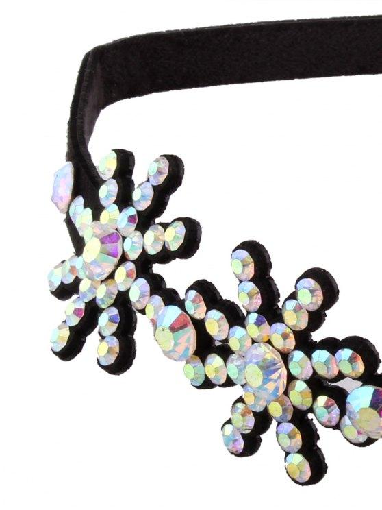 Snowflake Rhinestone Choker - COLORFUL  Mobile