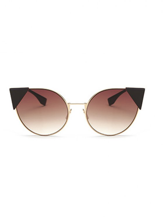Triangle Insert Cat Eye Sunglasses - TEA-COLORED  Mobile