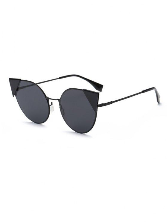 Triangle Insert Cat Eye Sunglasses - BLACK  Mobile