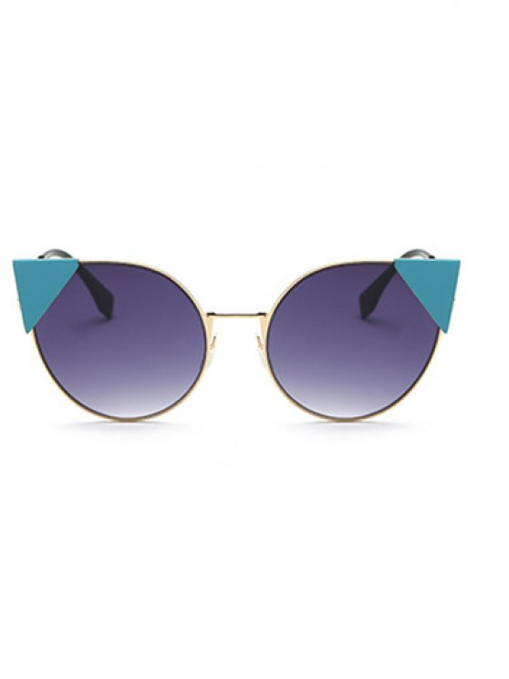 Triangle Insert Cat Eye Sunglasses - DEEP PURPLE  Mobile