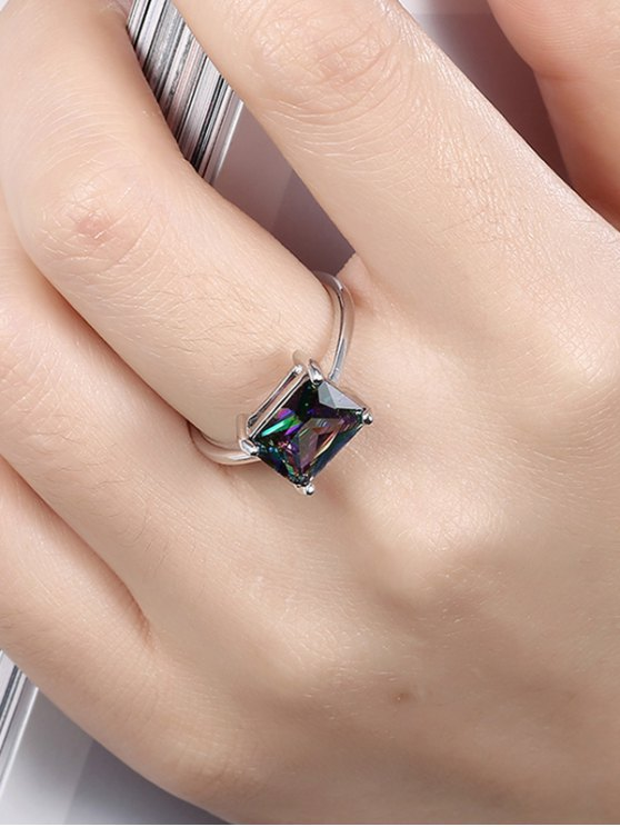 Geometric Artificial Zircon Ring - SILVER 7 Mobile