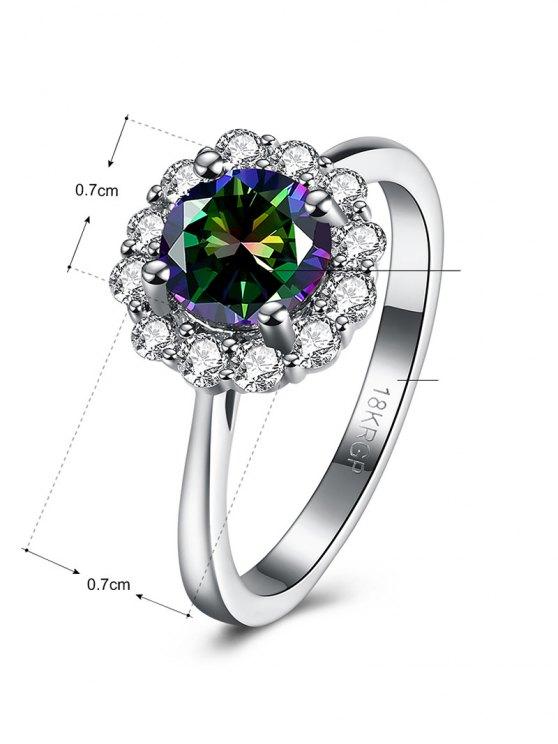 Rhinestoned Blossom Ring -   Mobile