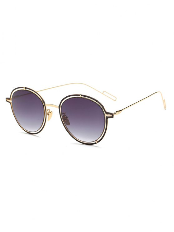 Double Rims Metal Oval Sunglasses -   Mobile