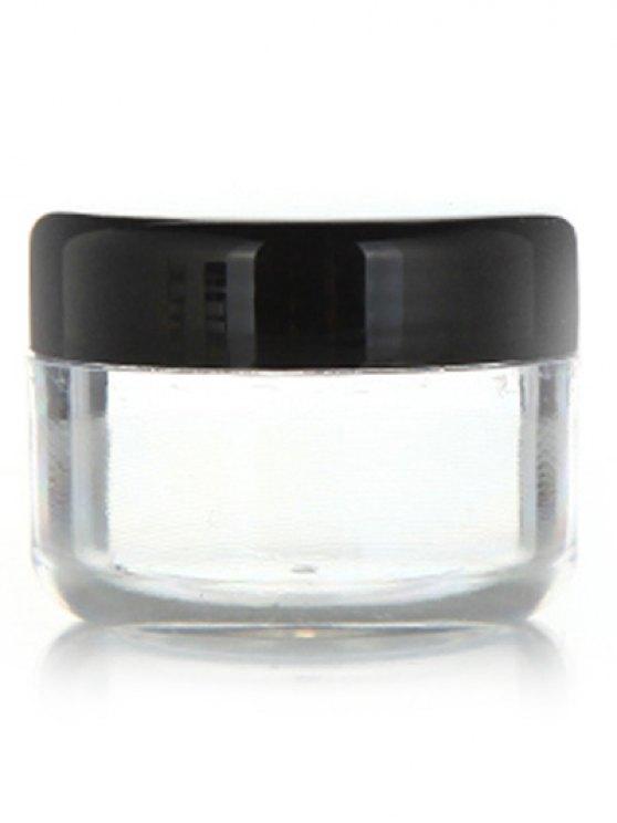 2 Pcs Travel Cosmetic Empty Jars - BLACK  Mobile