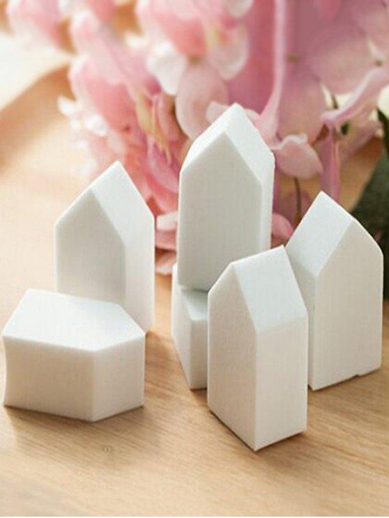 6 Pcs Powder Makeup Sponges - WHITE  Mobile