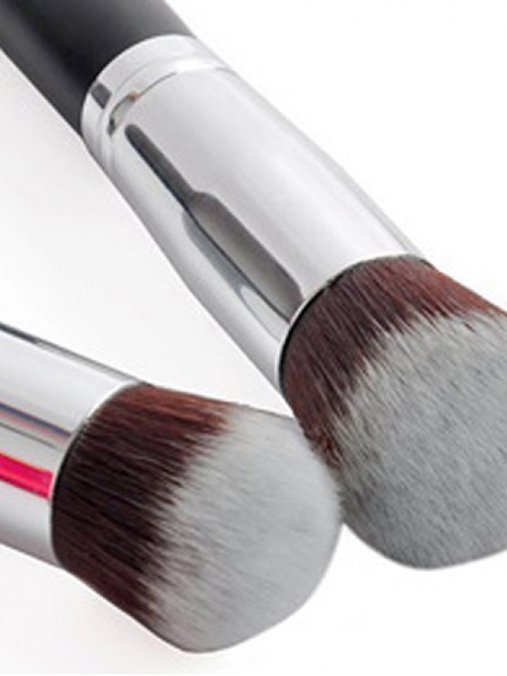 4 Pcs Foundation Brushes Set - SILVER  Mobile