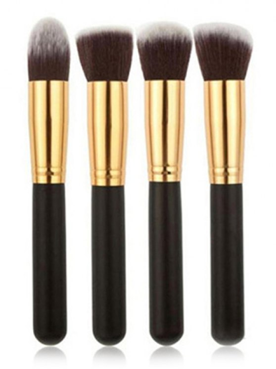 shops 4 Pcs Foundation Brushes Set - GOLDEN