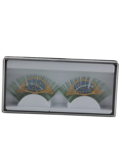buy Brazil Flag False Eyelashes - GREEN  Mobile