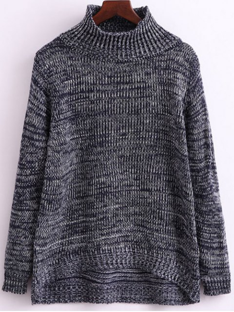new Heathered Funnel Neck Knitwear - GRAY ONE SIZE Mobile