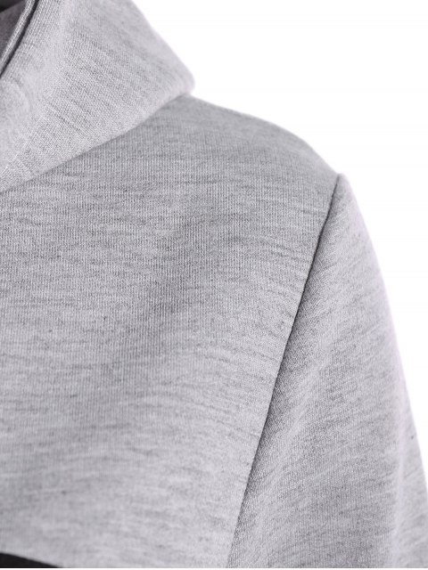 chic Hangover Cropped Hoodie - GRAY L Mobile