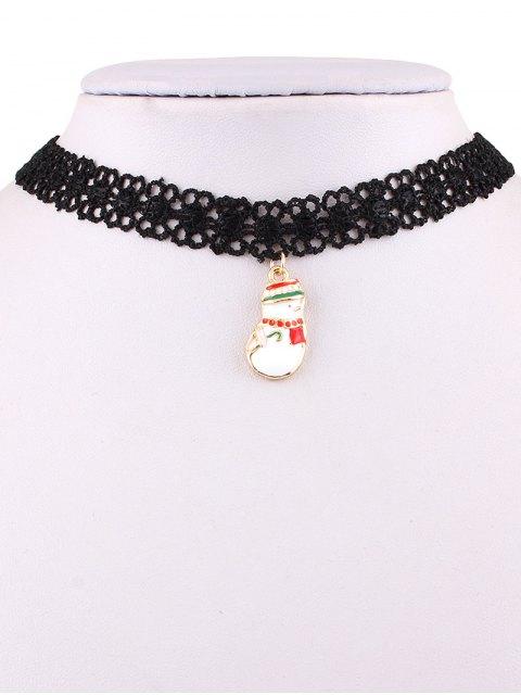 best Christmas Snowman Lace Weave Necklace -   Mobile
