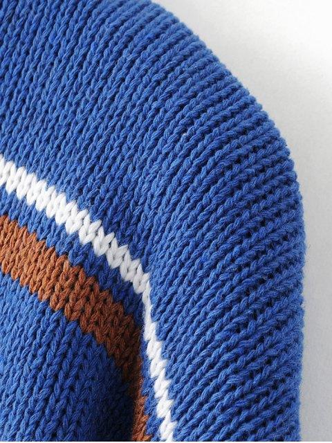 women Turtleneck Stripe Chunky Sweater - WHITE ONE SIZE Mobile
