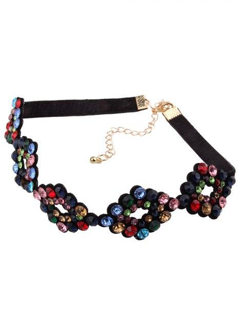 outfit PU Rhinestone Geometric Necklace -   Mobile