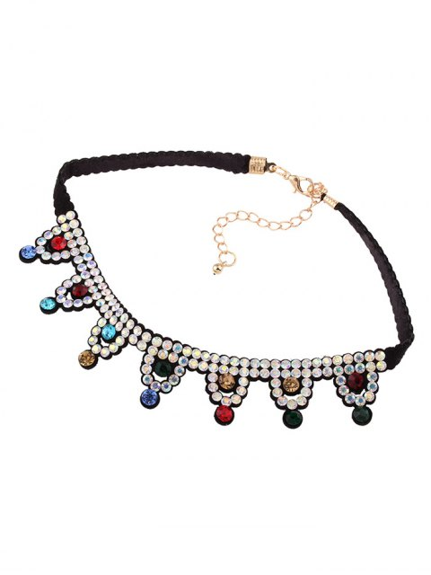 latest Geometric Rhinestone Choker Necklace - COLORFUL  Mobile