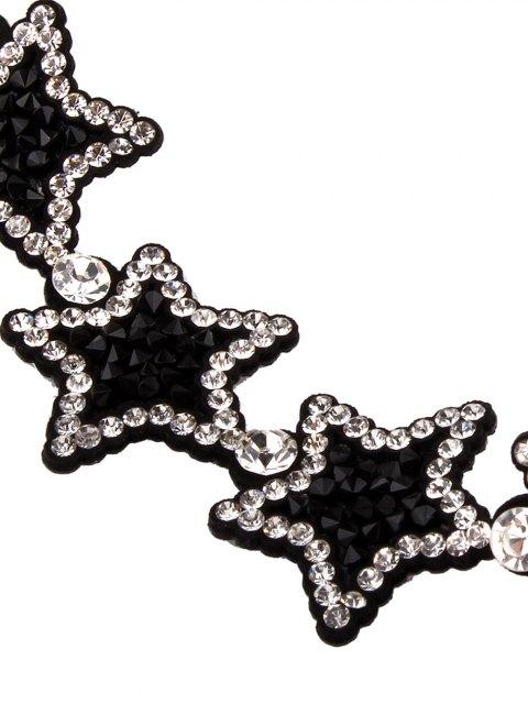 sale Star Rhinestone Choker Necklace - BLACK  Mobile