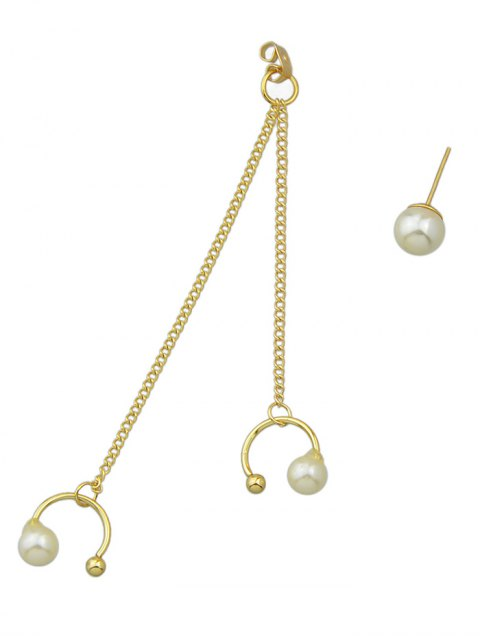 shop ONE PIECE Artificial Pearl Earring - GOLDEN  Mobile