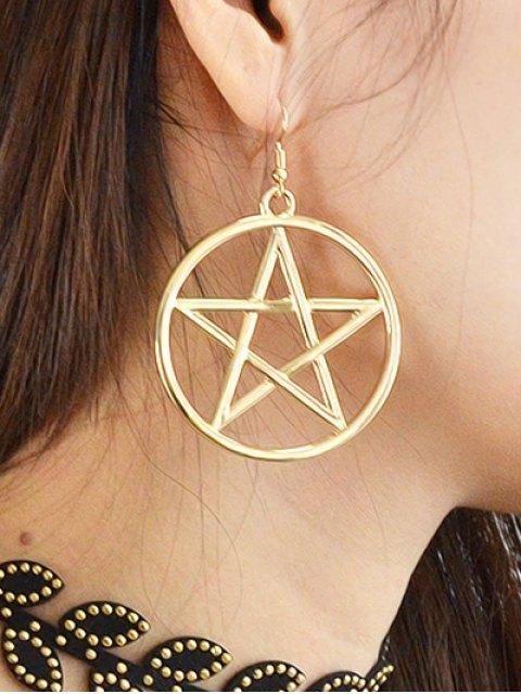 unique Star Circle Earrings - GOLDEN  Mobile