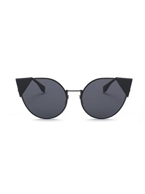 sale Triangle Insert Cat Eye Sunglasses - BLACK  Mobile