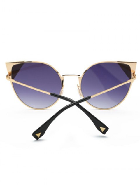 affordable Triangle Insert Cat Eye Sunglasses - DEEP PURPLE  Mobile