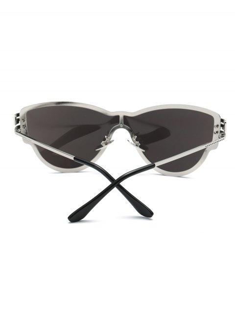 latest Butterfly Wrap Mirrored Sunglasses -   Mobile