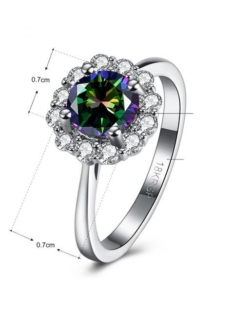online Rhinestoned Blossom Ring -   Mobile
