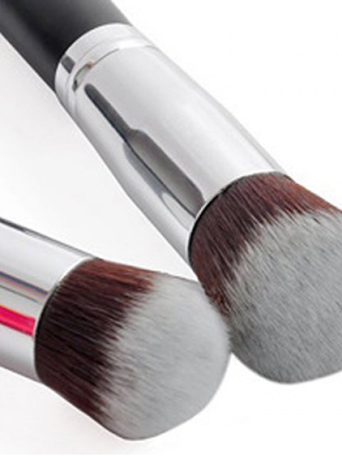 shop 4 Pcs Foundation Brushes Set - SILVER  Mobile