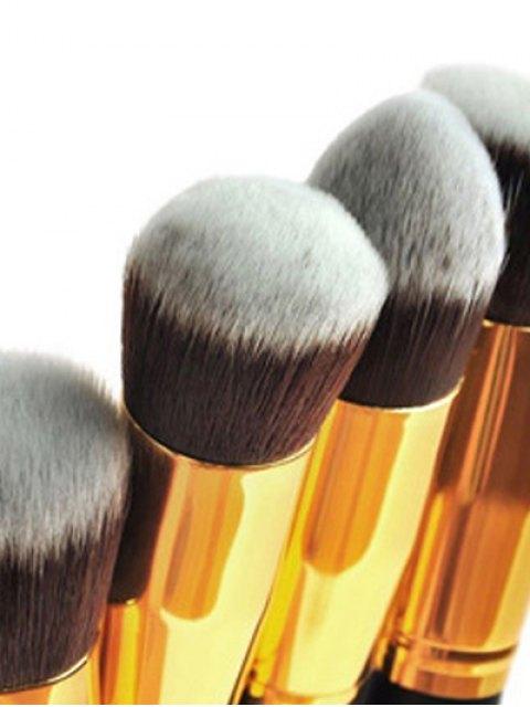 shops 4 Pcs Foundation Brushes Set - GOLDEN  Mobile