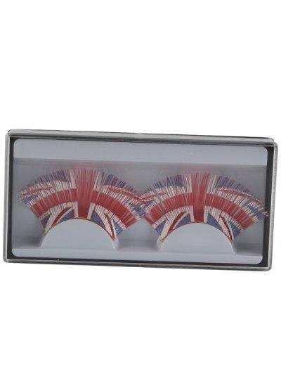 Union Jack False Eyelashes - RED  Mobile