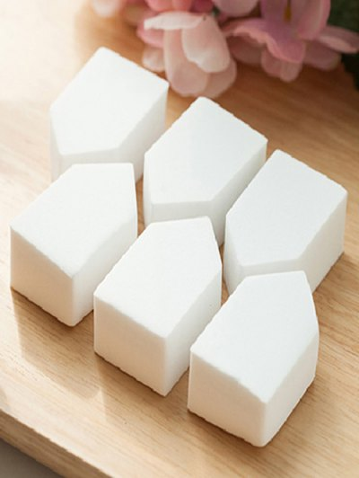 6 Pcs Powder Makeup Sponges - WHITE  Mobile