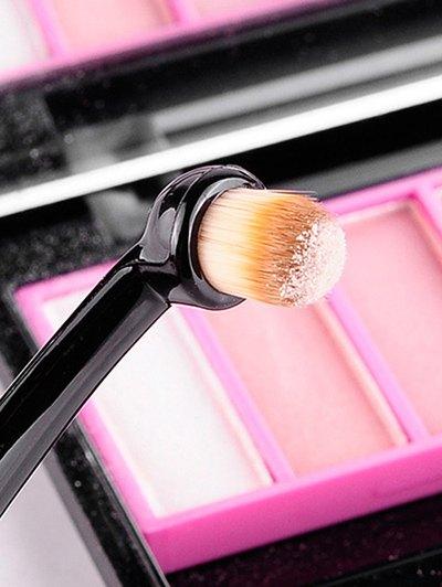 Toothbrush Shape Eyeshadow Brush - BLACK  Mobile
