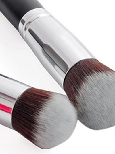 4 Pcs Foundation Brushes Set - SILVER  Mobile