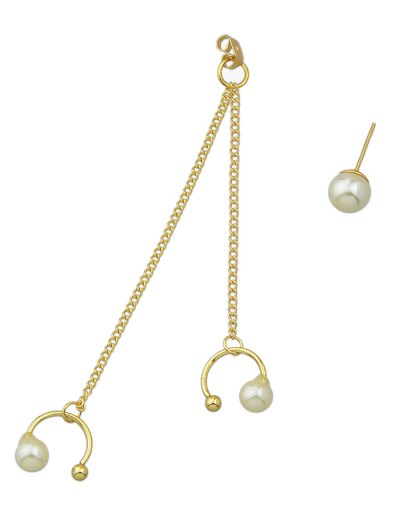 ONE PIECE Artificial Pearl Earring - GOLDEN  Mobile