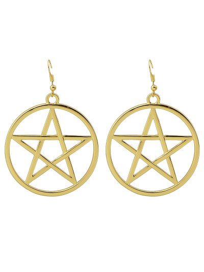 Star Circle Earrings - GOLDEN  Mobile