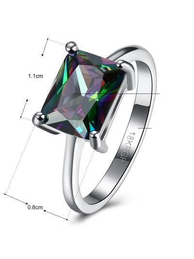 Geometric Artificial Zircon Ring - SILVER 7 Mobile