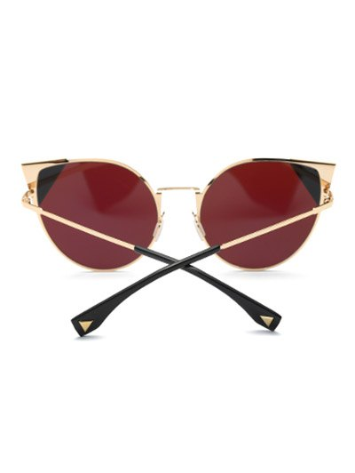 Triangle Insert Cat Eye Sunglasses - TEA-COLORED  Mobile