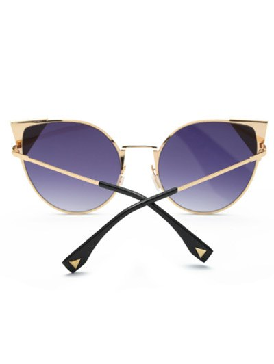 Triangle Insert Cat Eye Sunglasses - DEEP PURPLE  Mobile