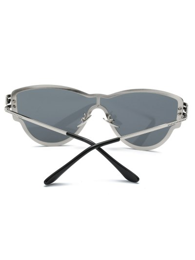 Butterfly Wrap Sunglasses - BLACK  Mobile